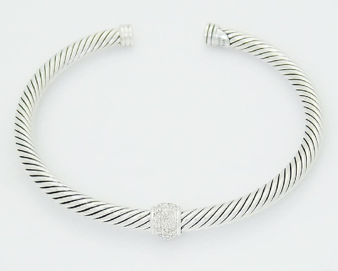 David Yurman 925 Sterling Silver Cable Classics 4mm