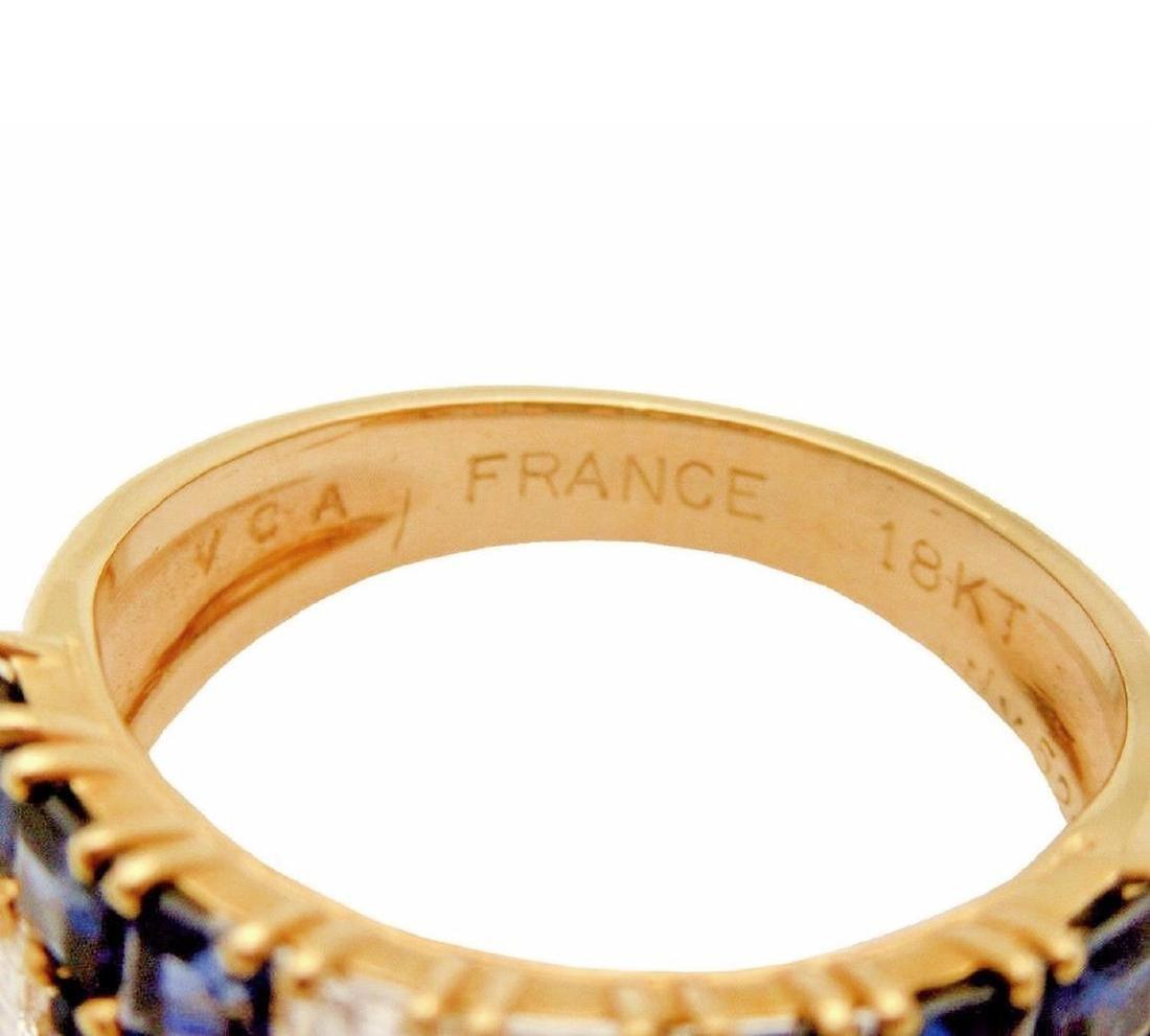 Van Cleef &  Arpels 18K 2.5 TCW Diamond Sapphire  Ring - 3