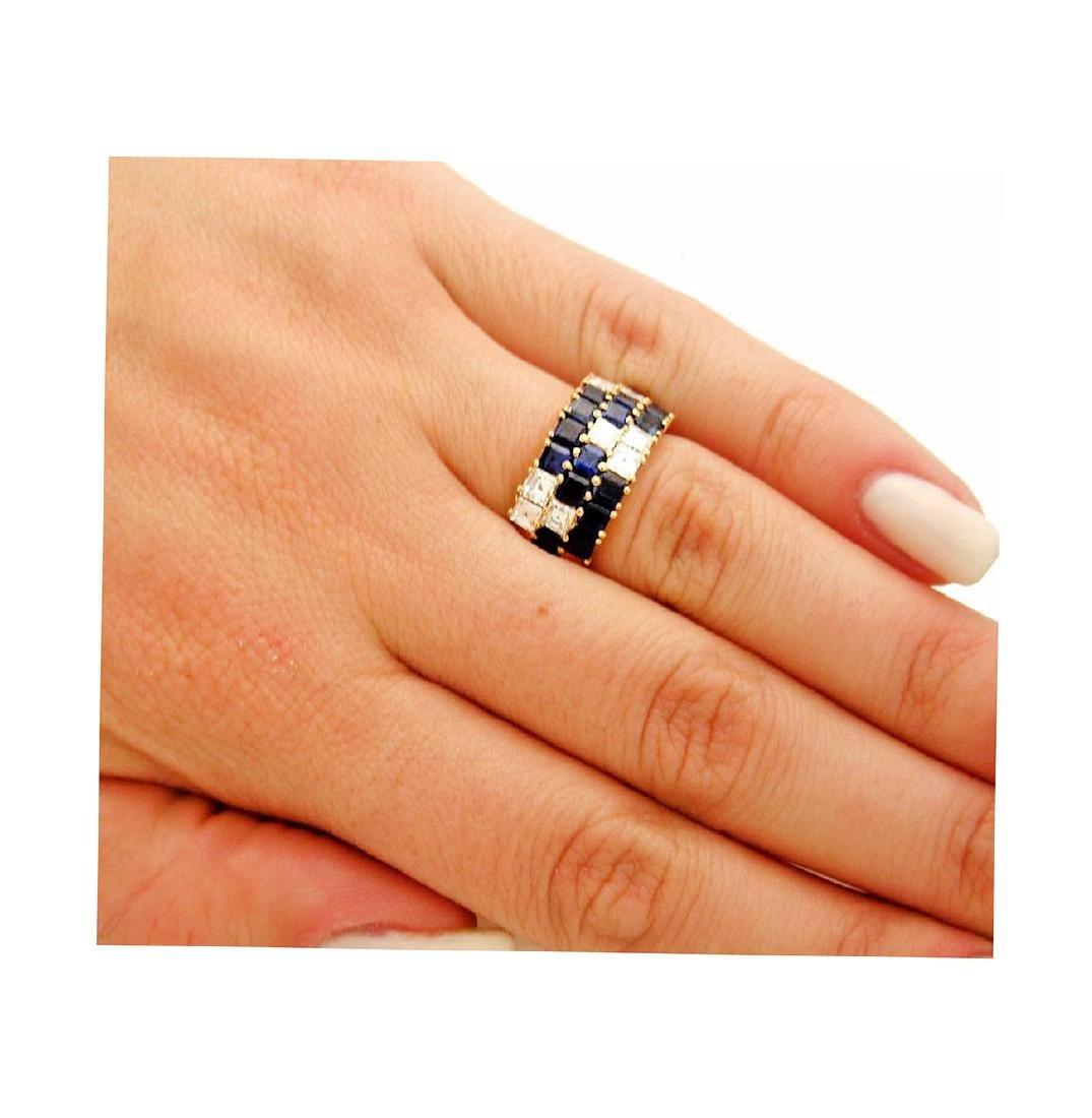 Van Cleef &  Arpels 18K 2.5 TCW Diamond Sapphire  Ring - 5