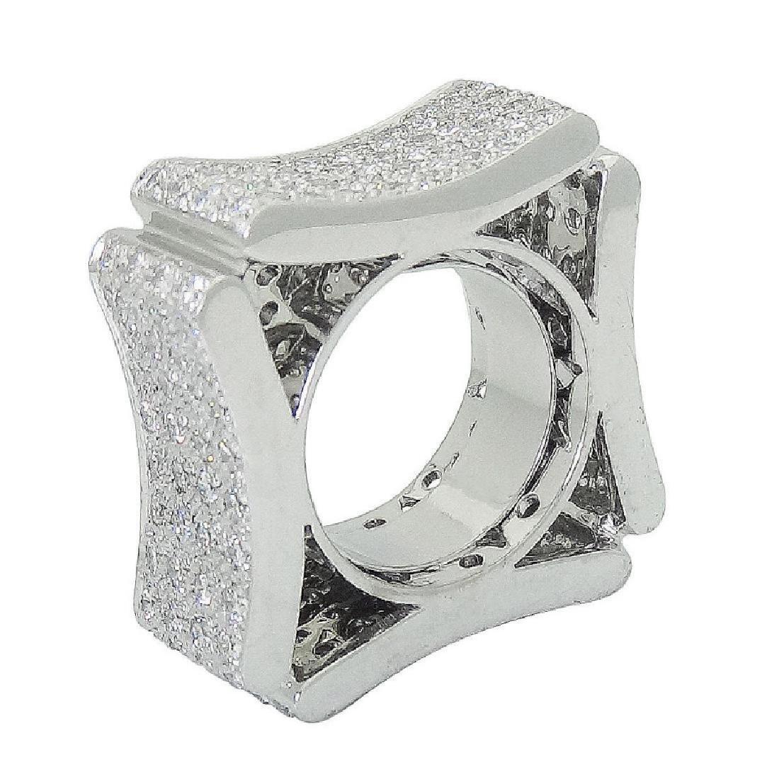 Modern Italian 18k White 5.00 TCW VS E-F Diamond Ring - 5
