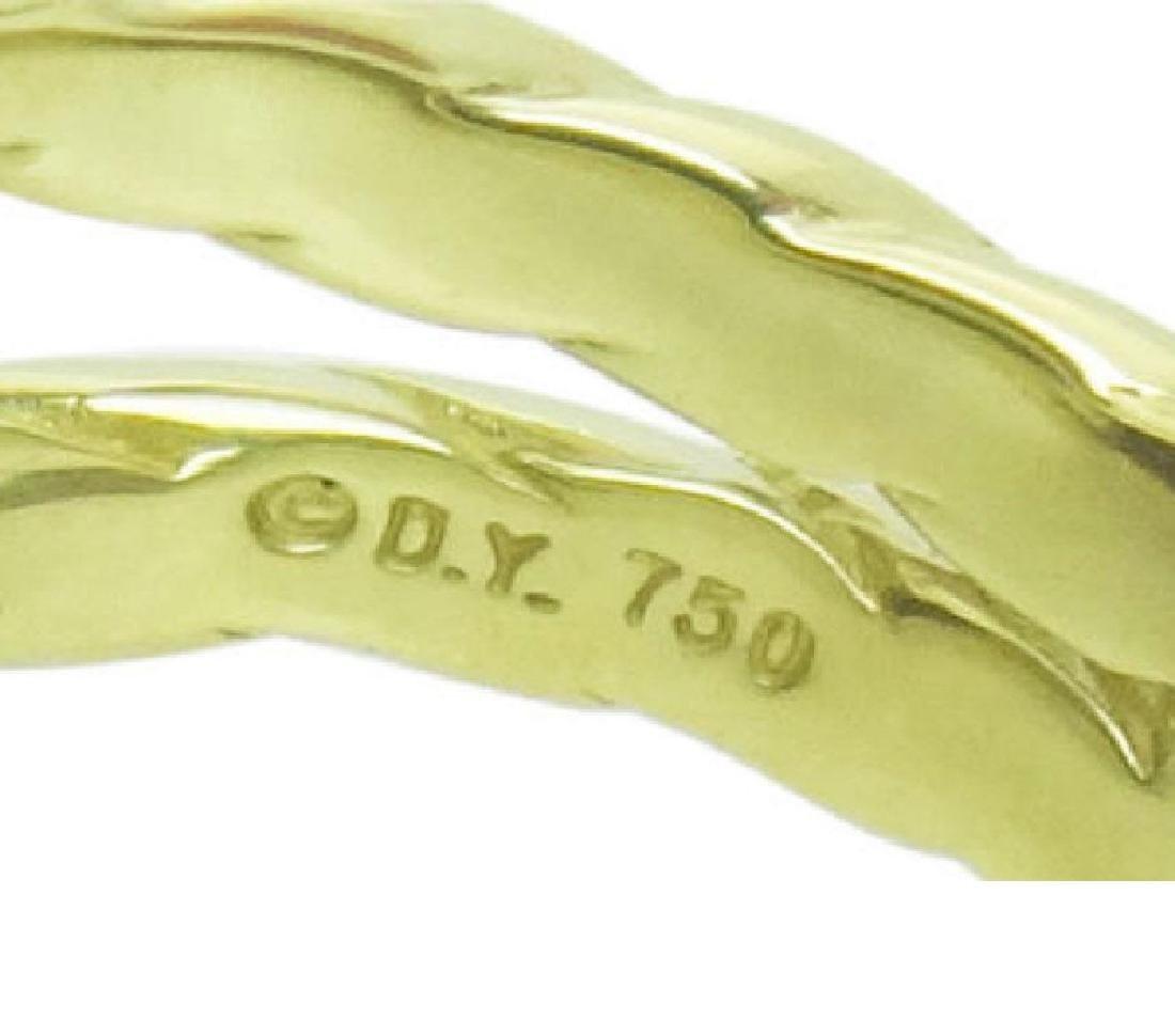 David Yurman 18k Y Gold Cushion Faceted Garnet Ring - 4