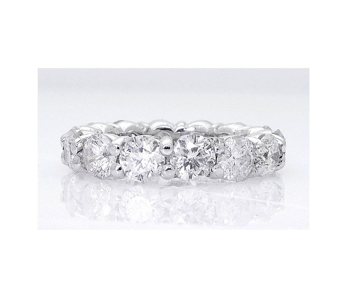 14k White Gold 4.20TCW Round Brilliant Diamond Eternity