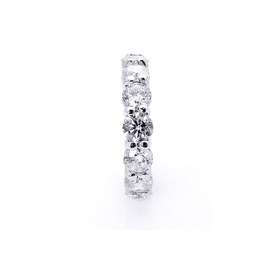 14k White Gold 4.20TCW Round Brilliant Diamond Eternity - 2