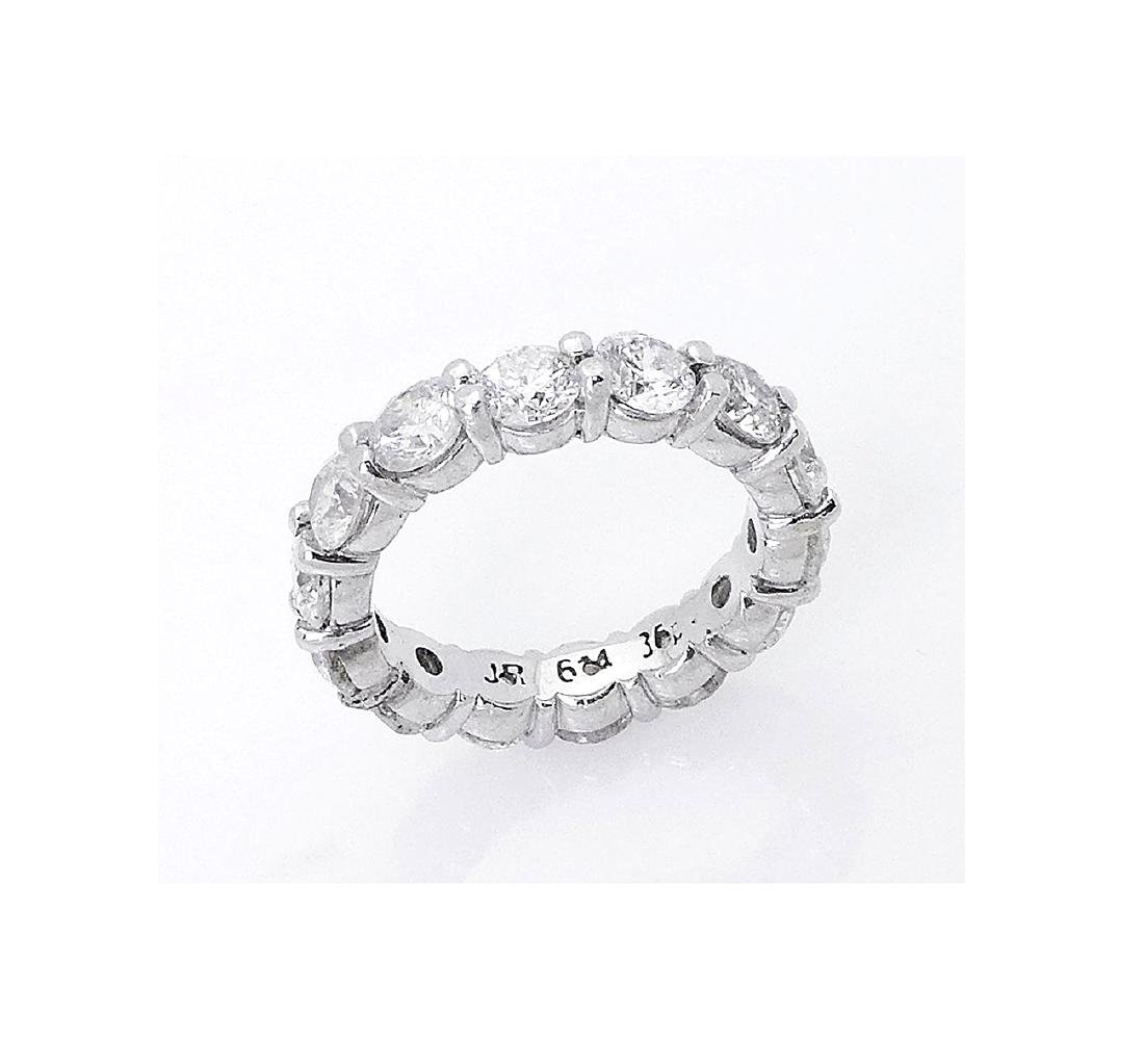 14k White Gold 4.20TCW Round Brilliant Diamond Eternity - 3