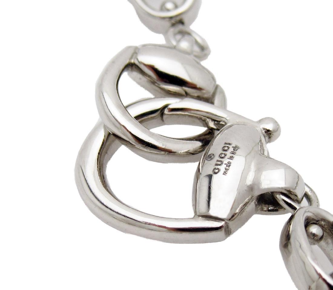 Gucci Horsebit Green Beryl Diamond Necklace in 18k - 2