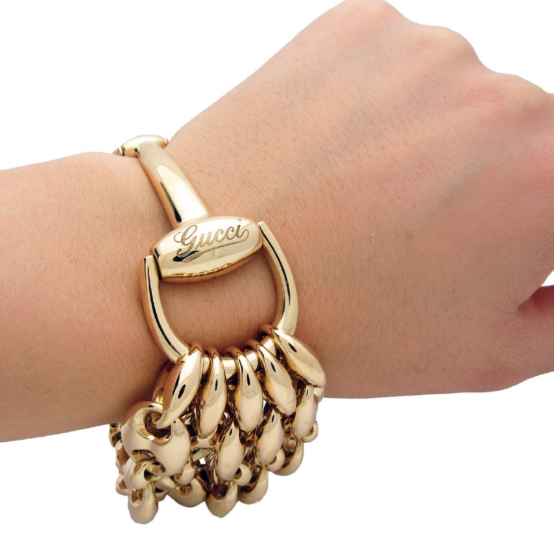 Gucci Horsebit Gold Multi Chain Bracelet - 4