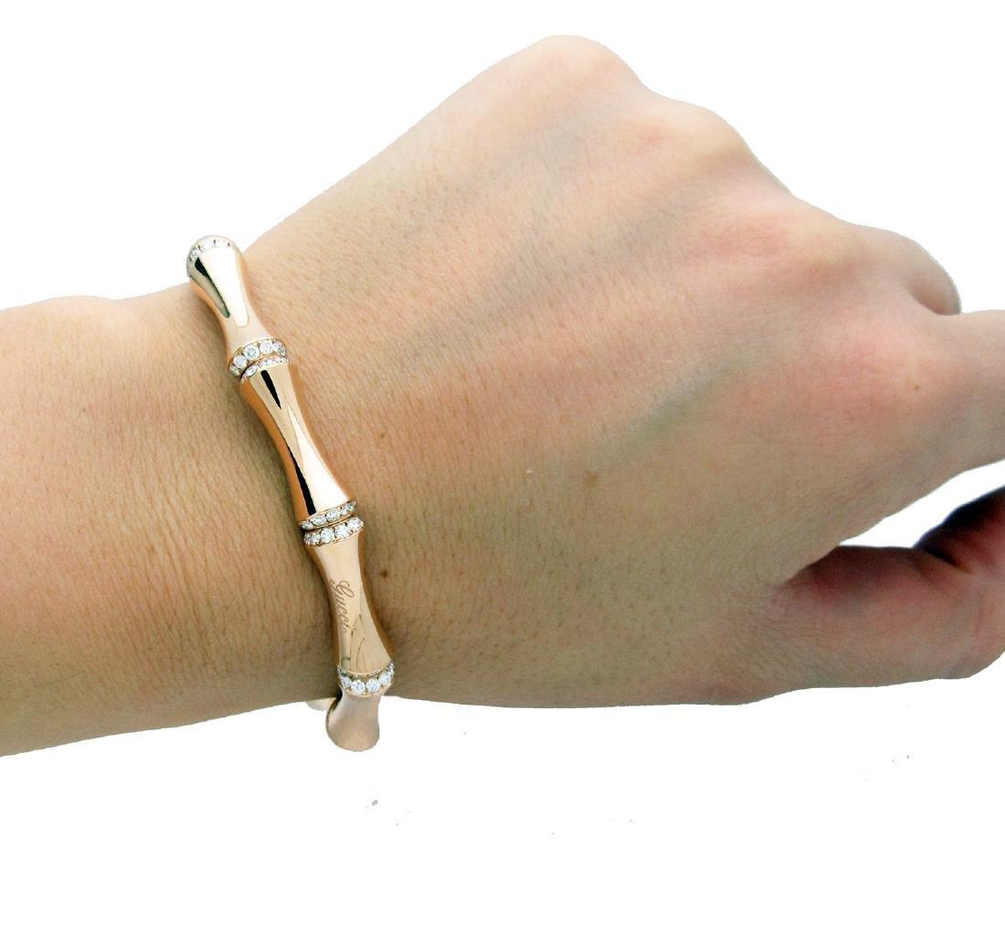 Gucci Bamboo Medium Diamond & 18K rose Gold Bracelet