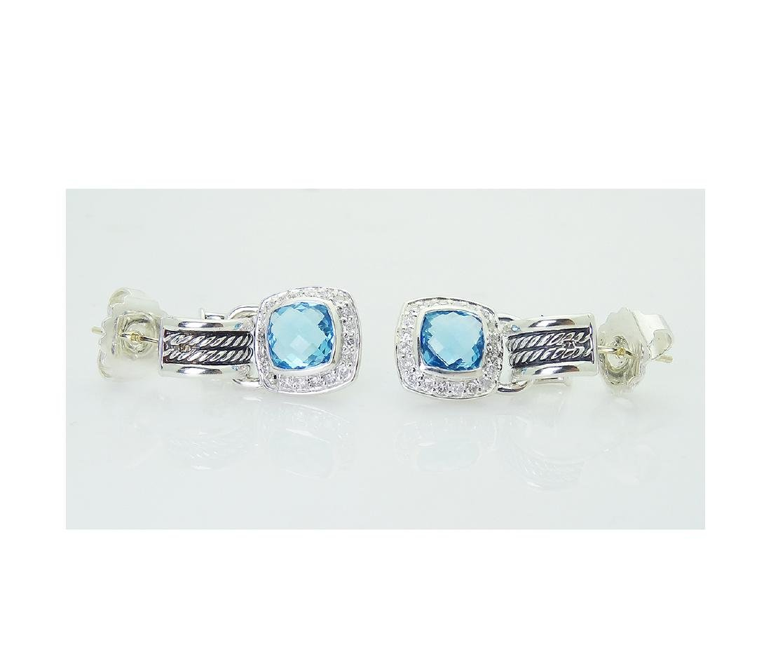 DAVID YURMAN Sterling Silver Blue Topaz and Diamond - 2