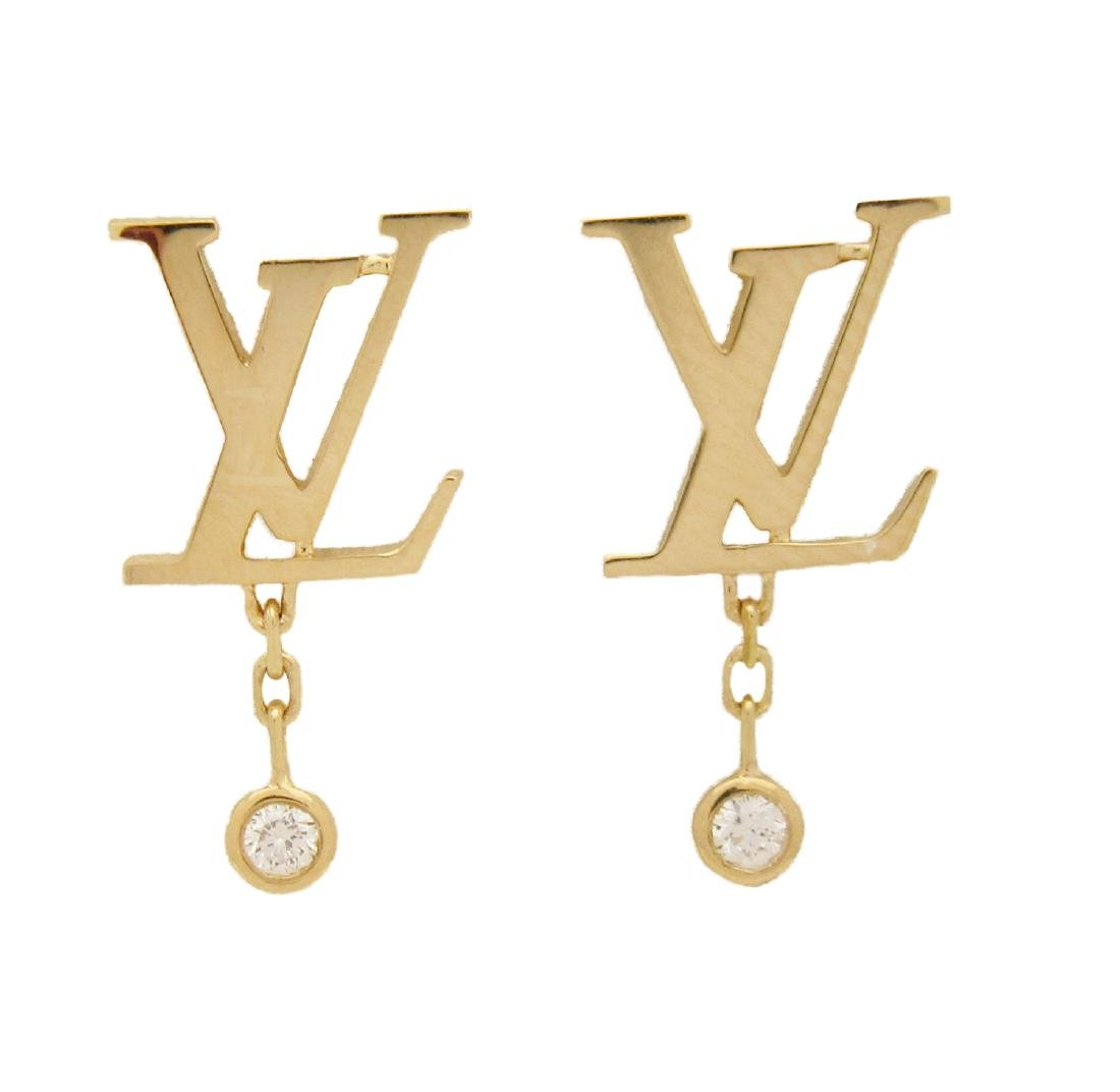 425ac3057 LOUIS VUITTON IDYLLE BLOSSOM LV EARRINGS, YELLOW GOLD - Dec 08, 2018 |  Allure Antique Auction Company in FL