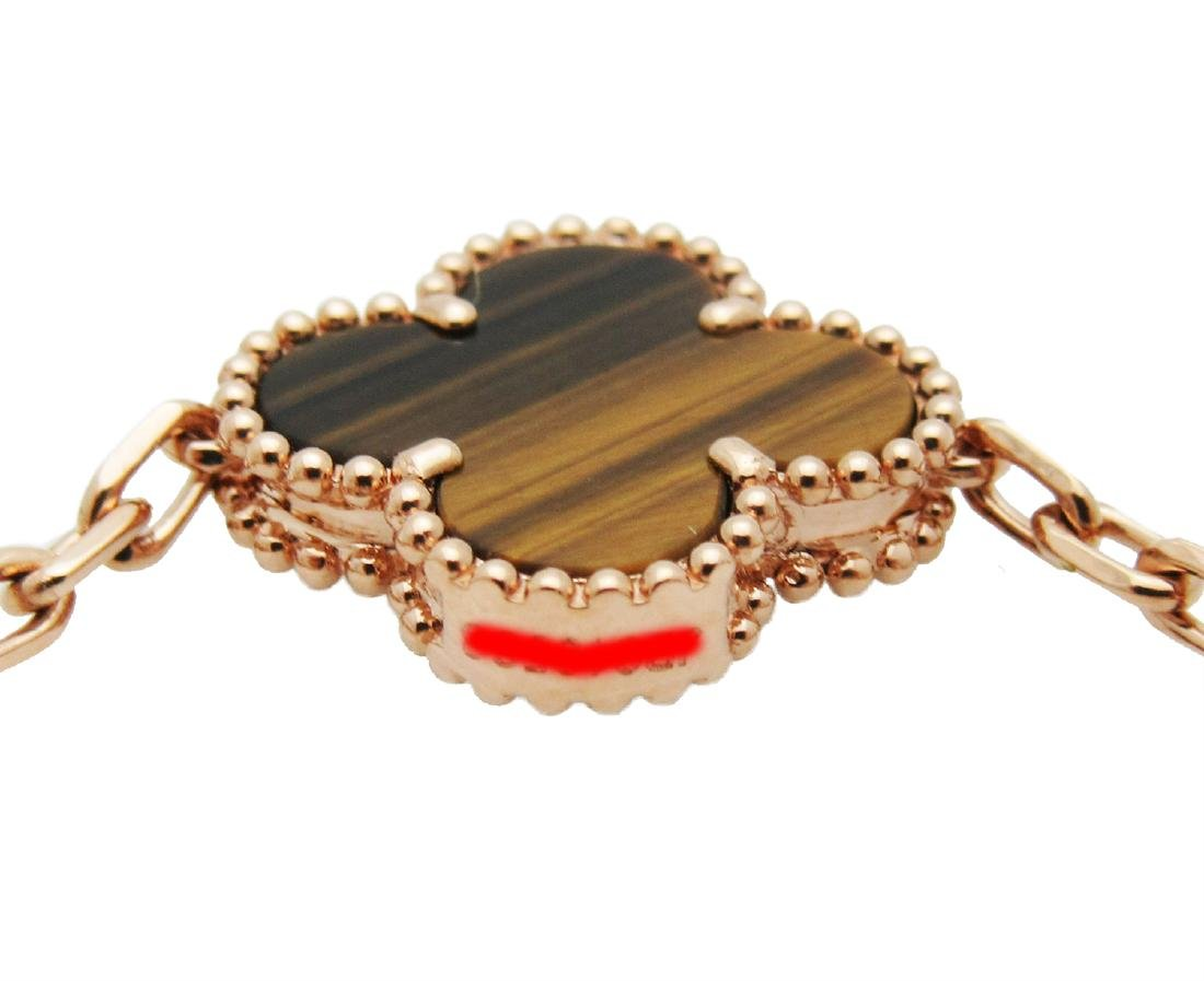Van Cleef & Arpels 18k Rose Gold Tiger Eye Alhambra - 5