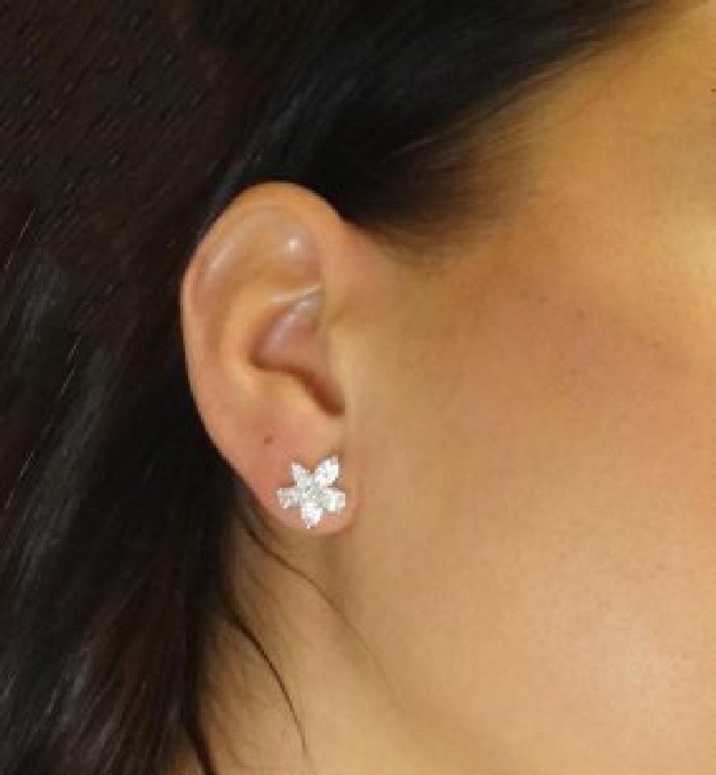 Tiffany & Co Platinum Victoria Diamond Cluster Earrings - 2