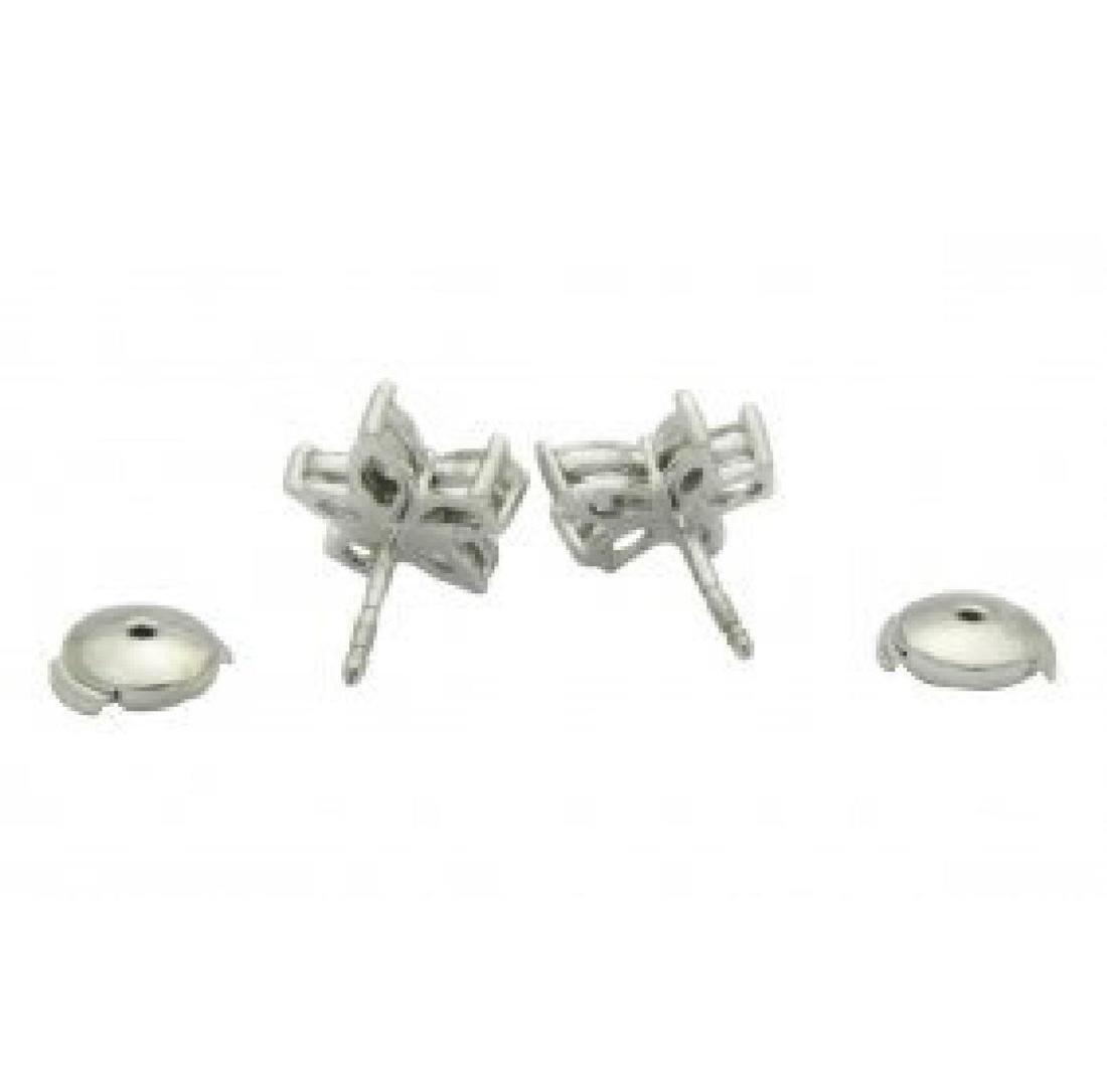 Tiffany & Co Platinum Victoria Diamond Cluster Earrings - 3