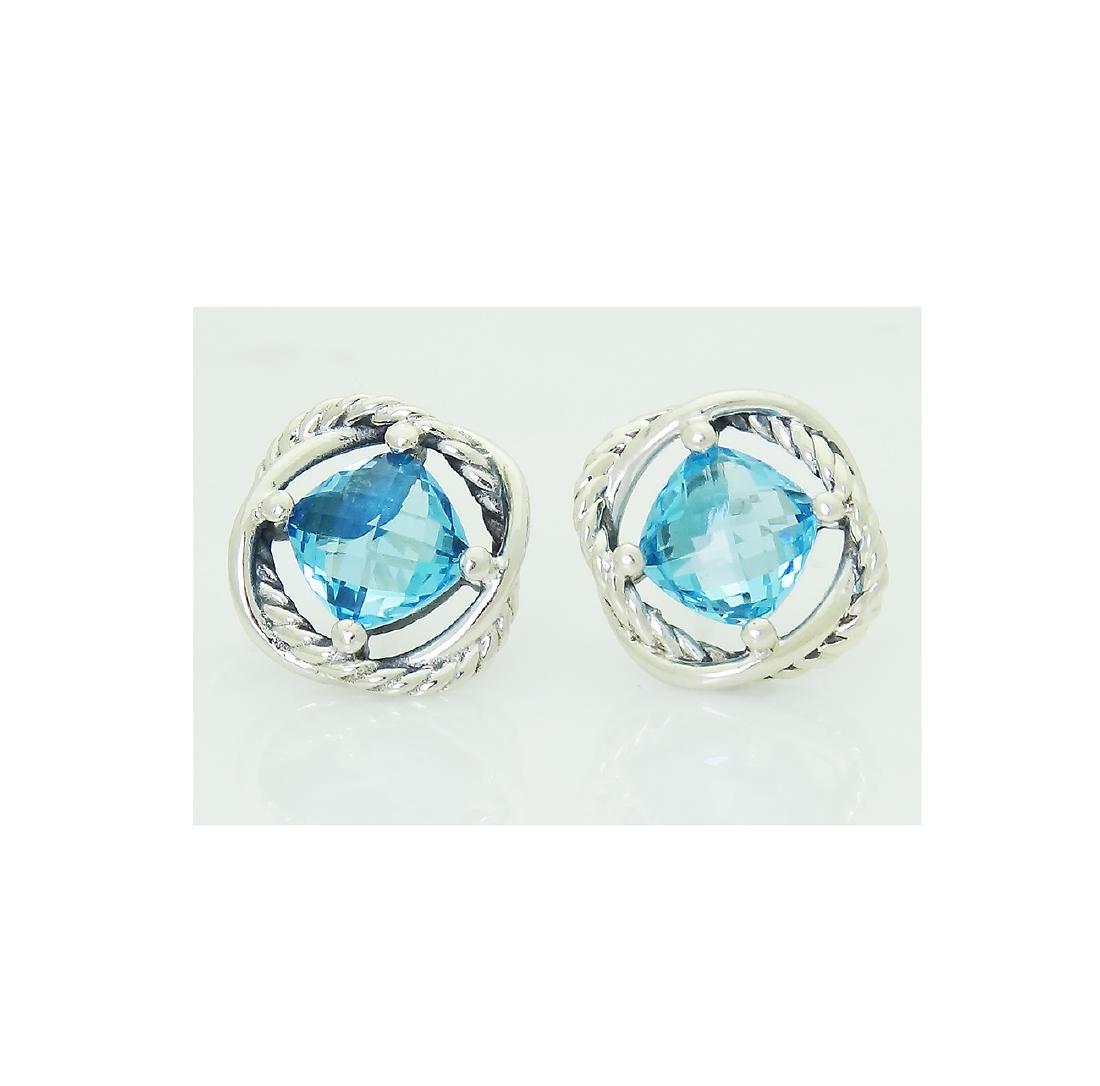 DAVID YURMAN Sterling Silver Blue Topaz Infinity