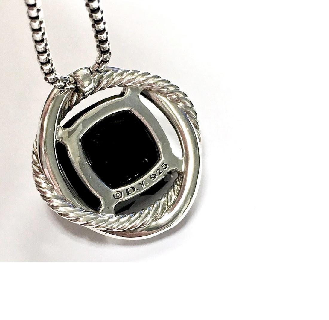 David Yurman Sterling Silver Infinity Black Onyx - 2