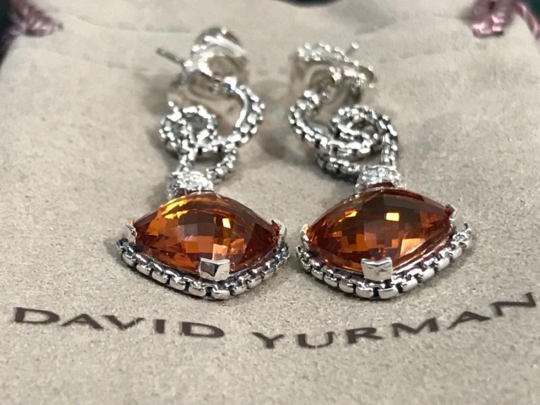 David Yurman Sterling Silver Citrine & Diamond Dangle - 3