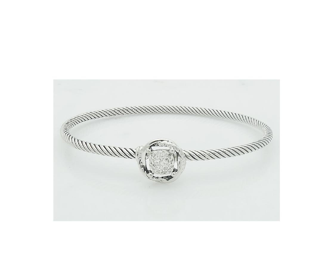 David Yurman 925 Sterling Silver Infinity Bracelet with