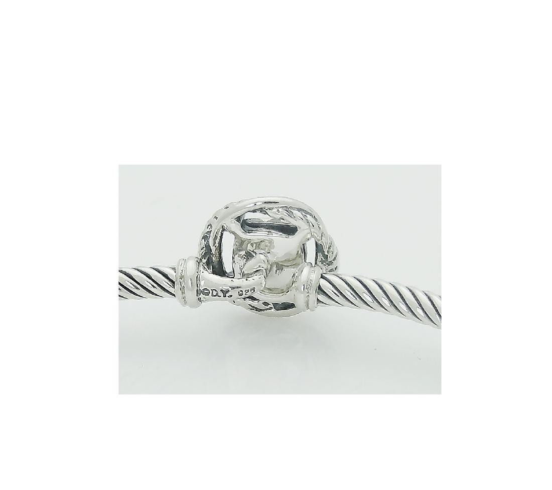 David Yurman 925 Sterling Silver Infinity Bracelet with - 3