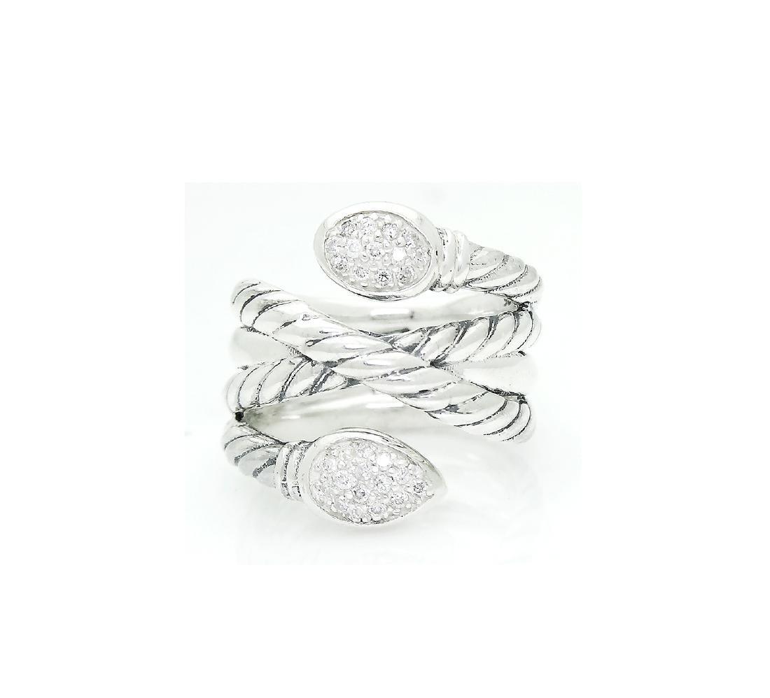 DAVID YURMAN Sterling Silver Confetti Crossover Diamond