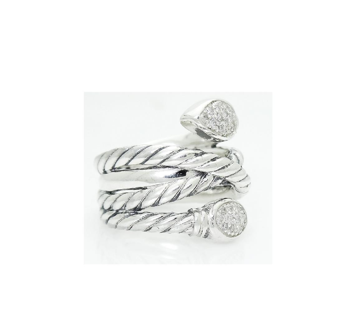 DAVID YURMAN Sterling Silver Confetti Crossover Diamond - 2