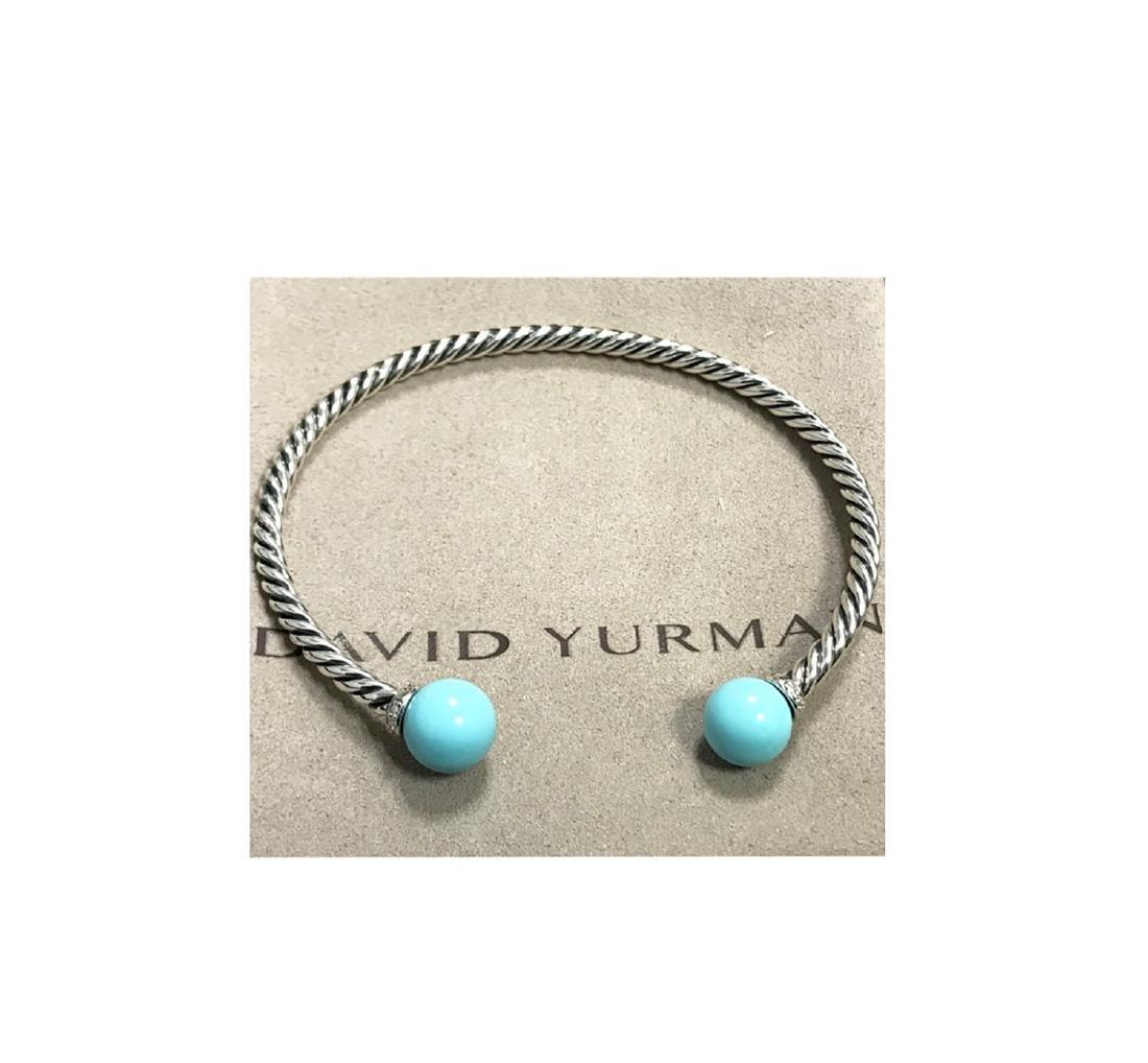 David Yurman 925 Sterling Silver Solari Turquoise &