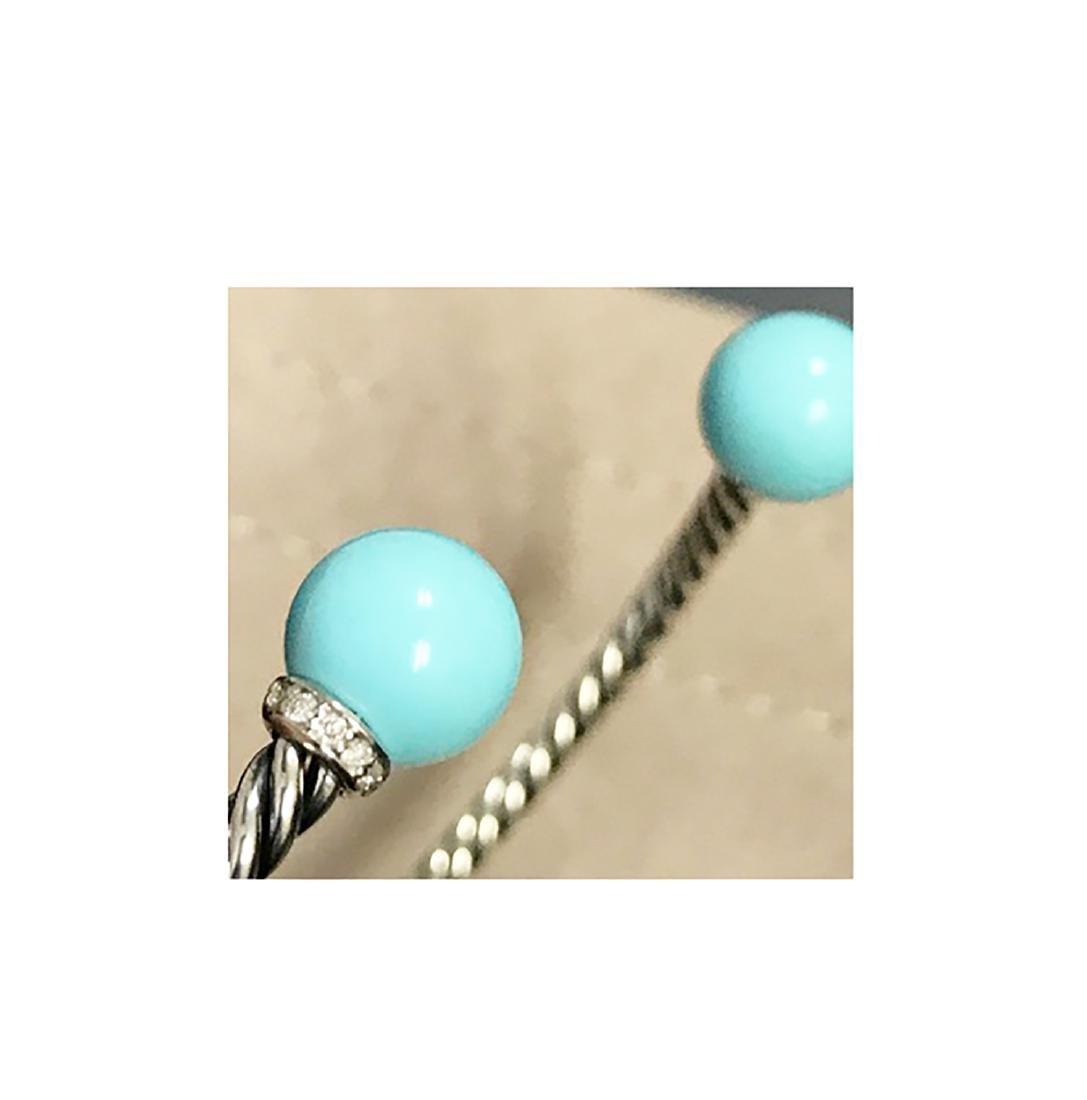 David Yurman 925 Sterling Silver Solari Turquoise & - 2