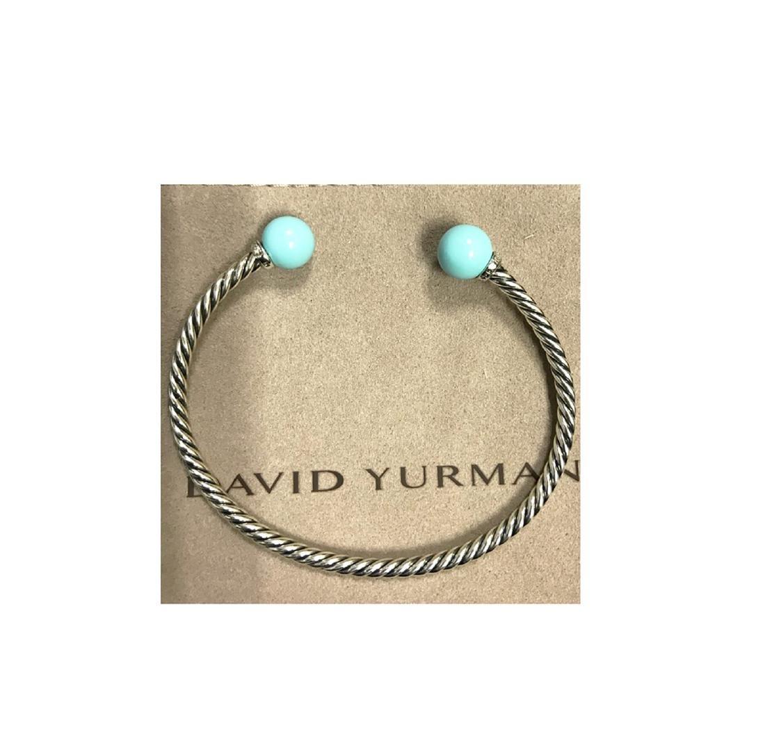 David Yurman 925 Sterling Silver Solari Turquoise & - 4
