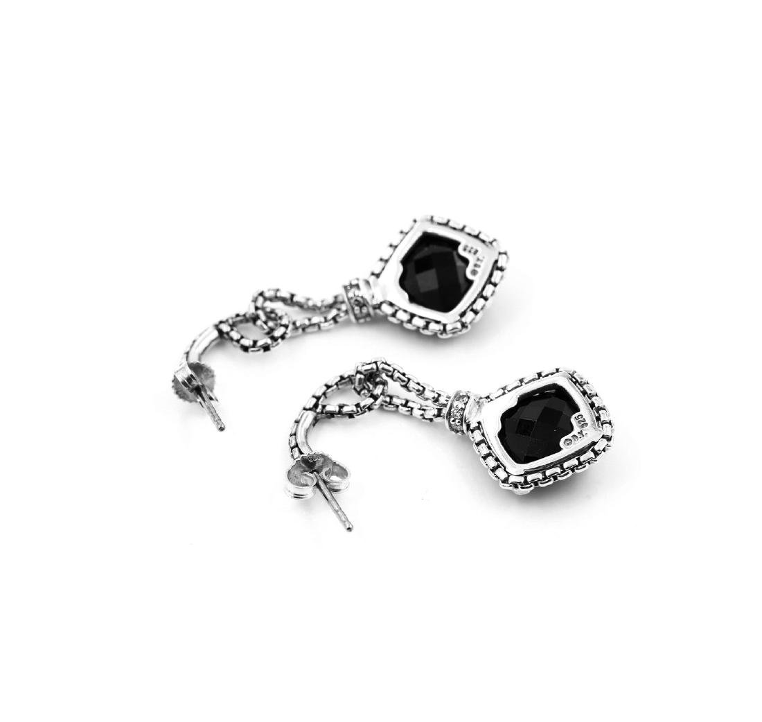 David Yurman Sterling Silver Black Onyx & Diamond - 2
