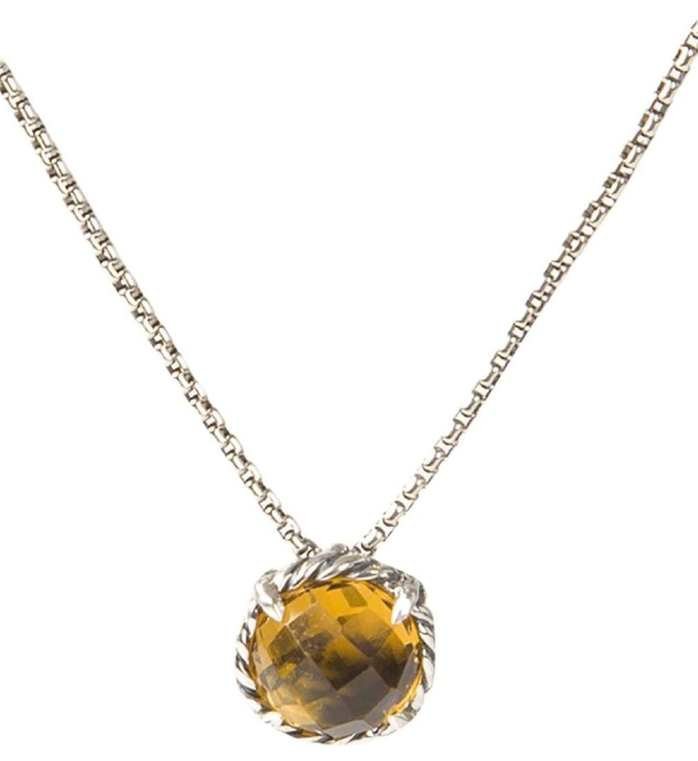 David Yurman Sterling Silver Chatelaine Citrine