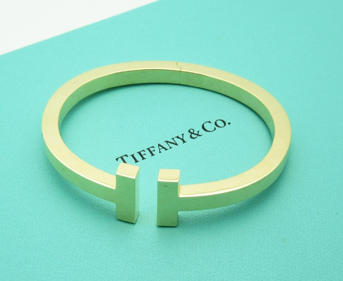 Tiffany & Co. 18k Yellow Gold T Square Cuff Bracelet
