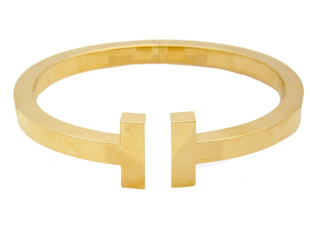 Tiffany & Co. 18k Yellow Gold T Square Cuff Bracelet - 2
