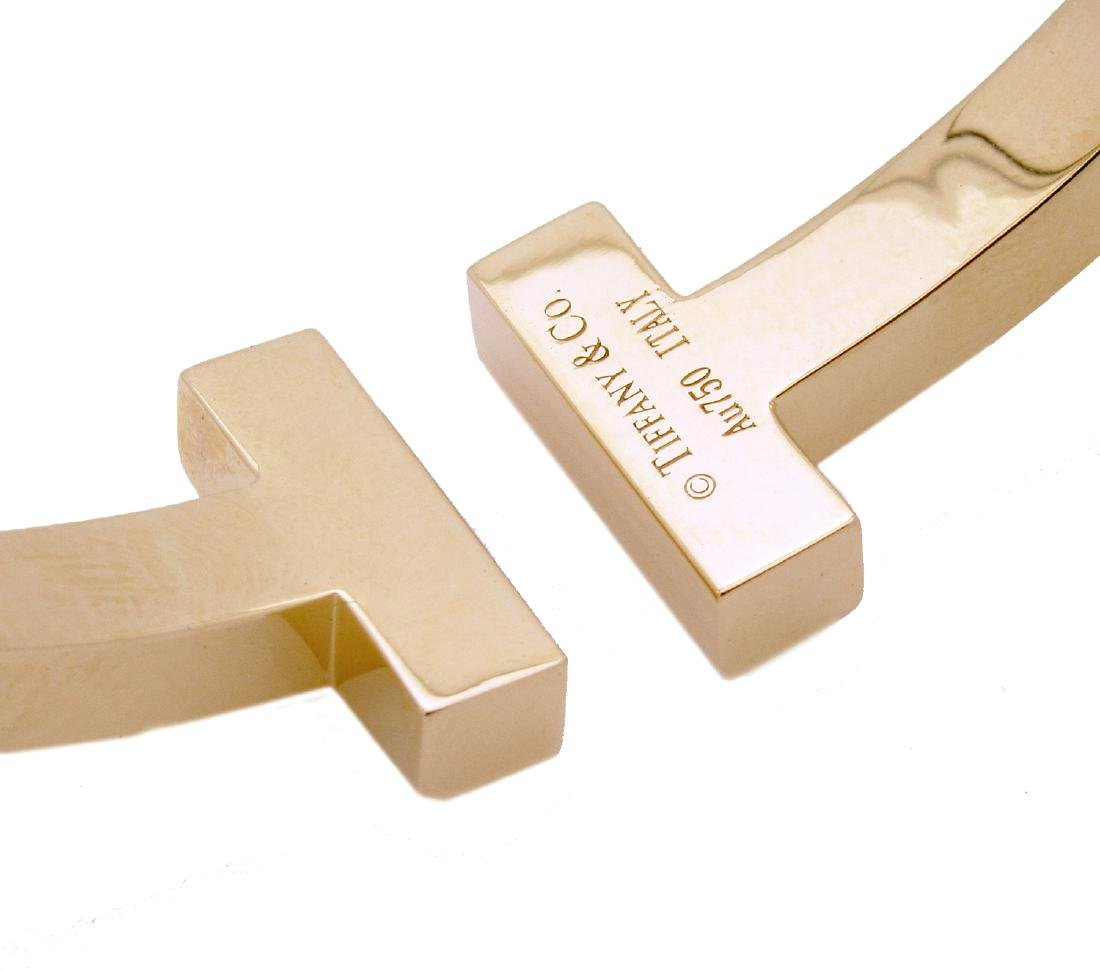 Tiffany & Co. 18k Yellow Gold T Square Cuff Bracelet - 3