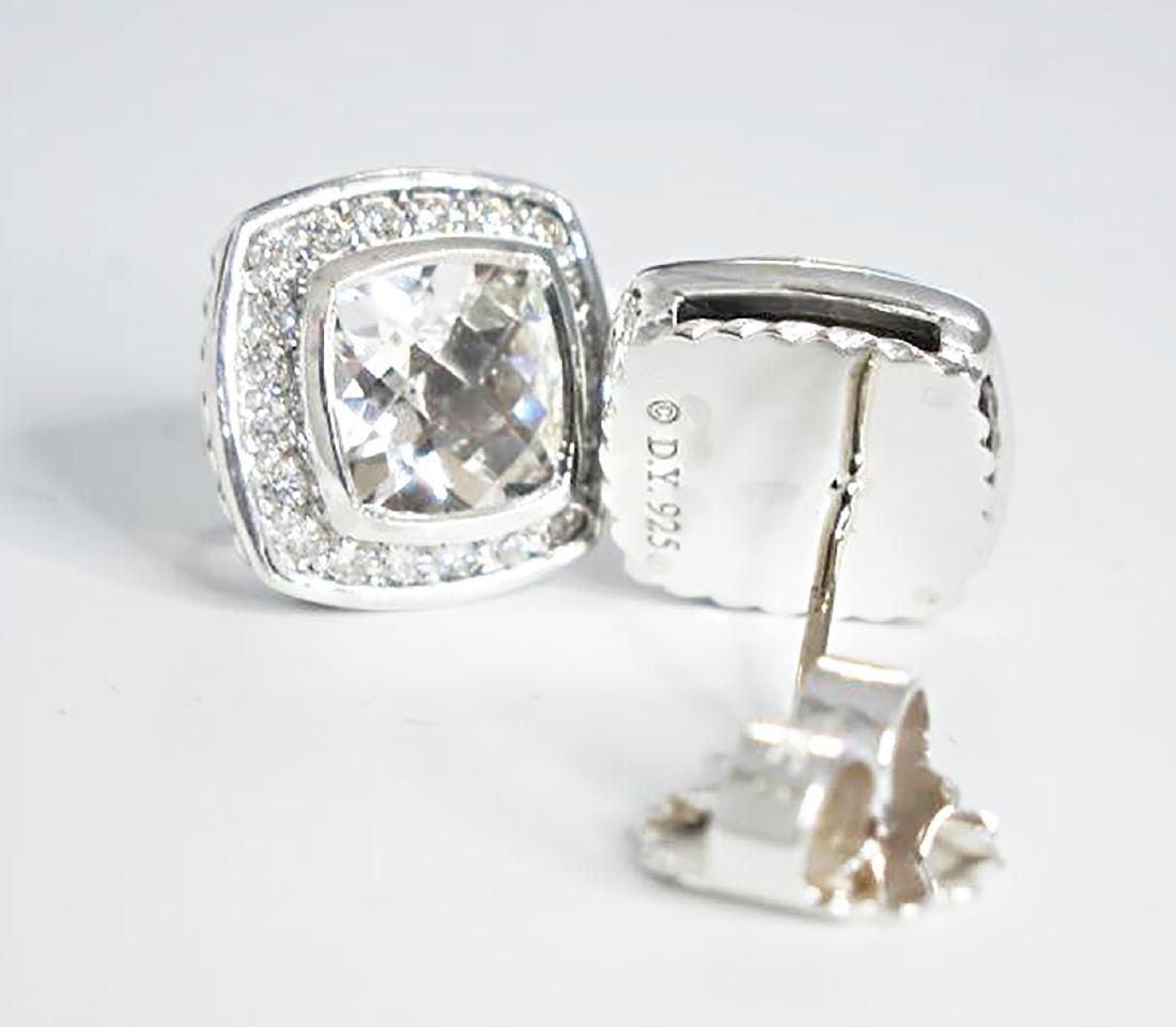 David Yurman 925 Sterling Silver Albion Earrings Topaz - 3