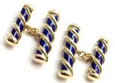 Tiffany & Co Jean Schlumberger 18k Yellow Gold Blue