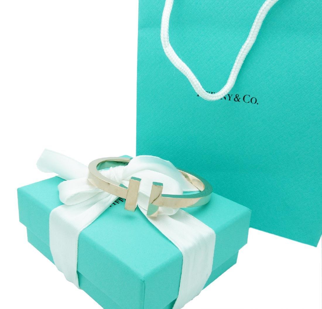 Tiffany & Co. 750 18K Rose Gold T Bangle Bracelet