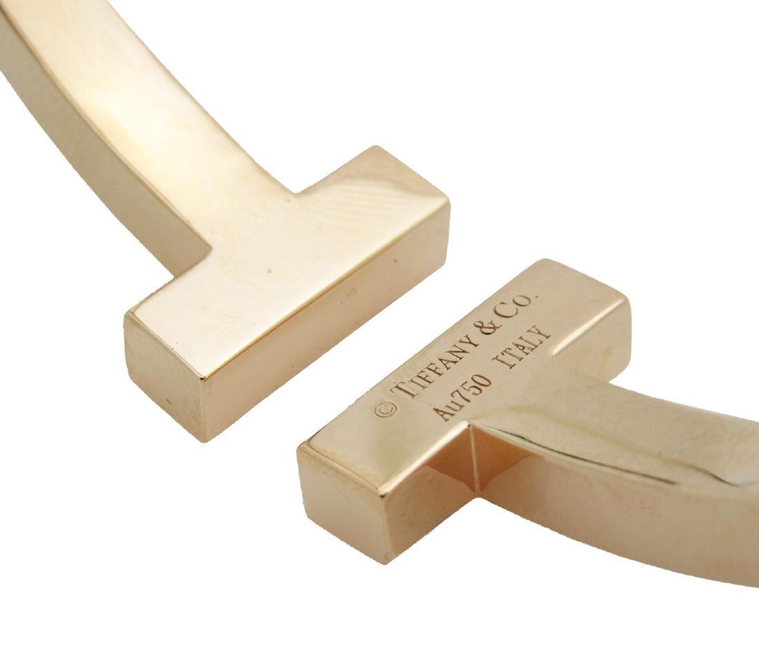 Tiffany & Co. 750 18K Rose Gold T Bangle Bracelet - 3