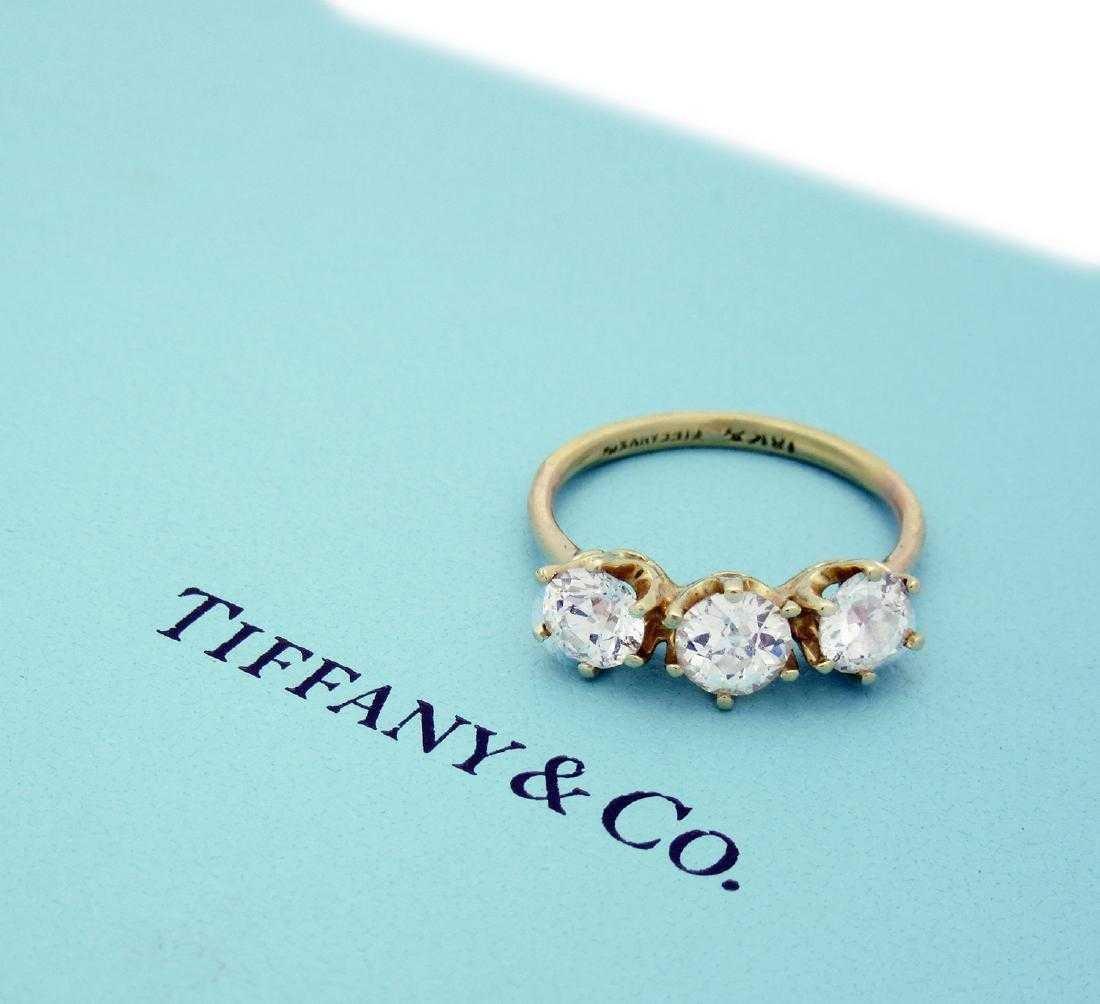 Tiffany & Co 18k Yellow Gold approx 1.5TCW Diamond Band