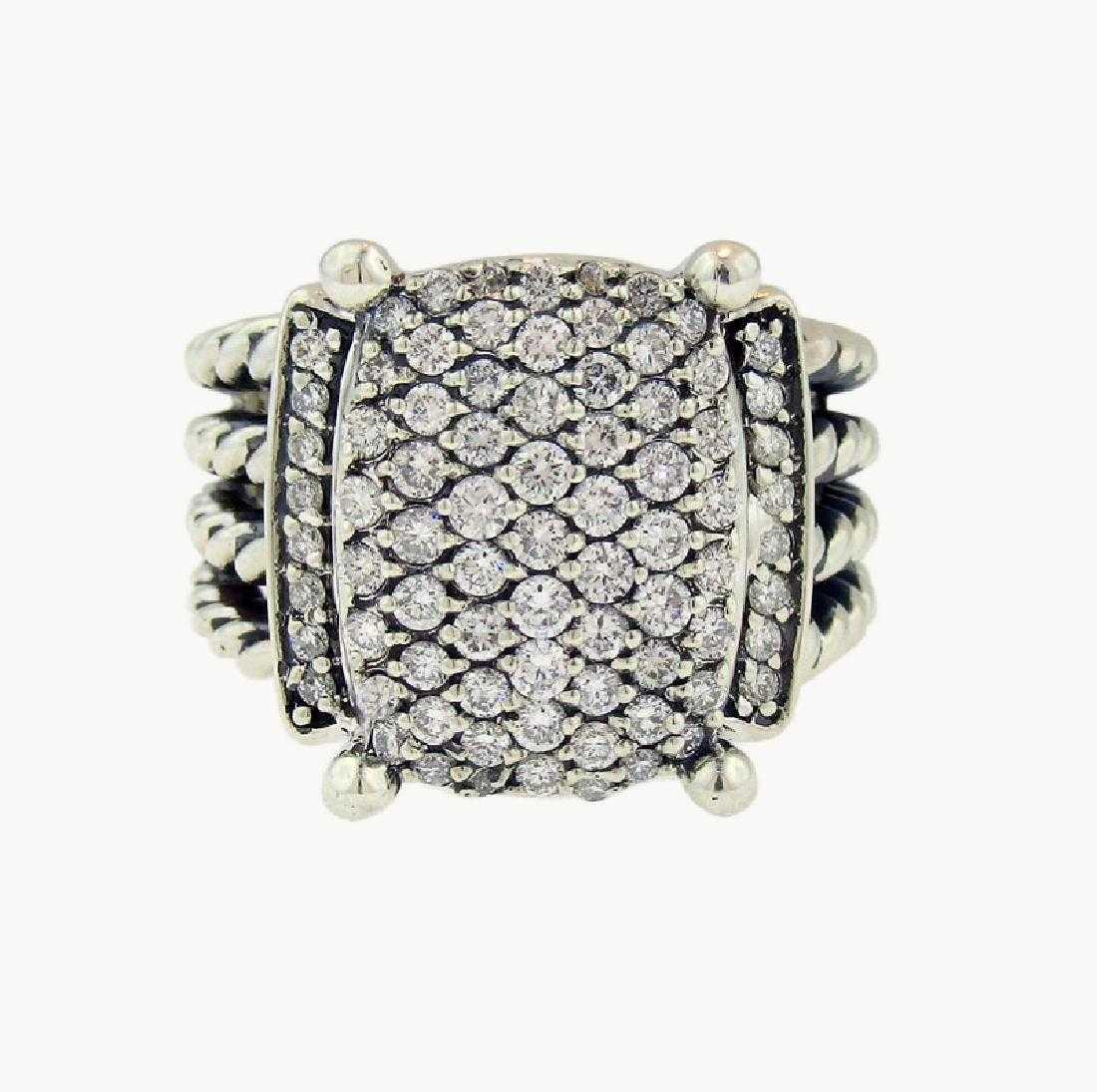 9edeb0439b4a0 David Yurman Wheaton Sterling Silver   Diamond Ring