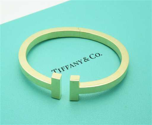 575cc3a2f Tiffany & Co. 18k Yellow Gold T Square Cuff Bracelet. placeholder