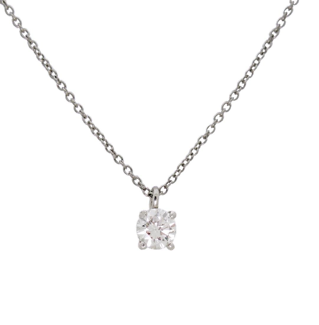 Tiffany and Co 950 Platinum Diamond by the Yard Pendant
