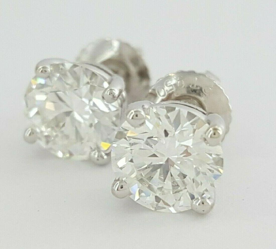 Tiffany & Co 1.93 ct Round Cut Diamond Stud Earrings - 2