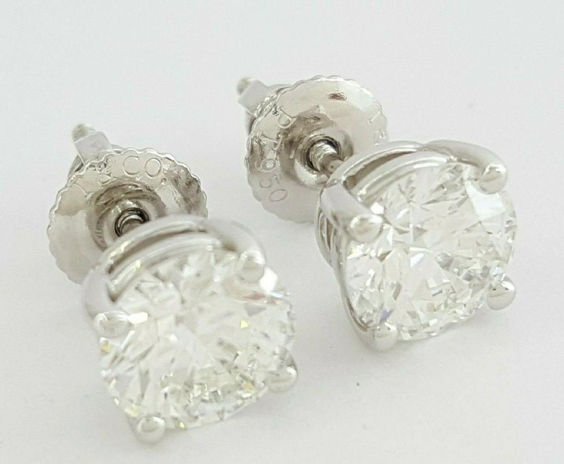 Tiffany & Co 1.93 ct Round Cut Diamond Stud Earrings - 5
