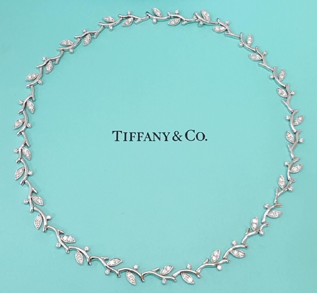 Tiffany & Co Garland Platinum 2.25ct Diamond Necklace