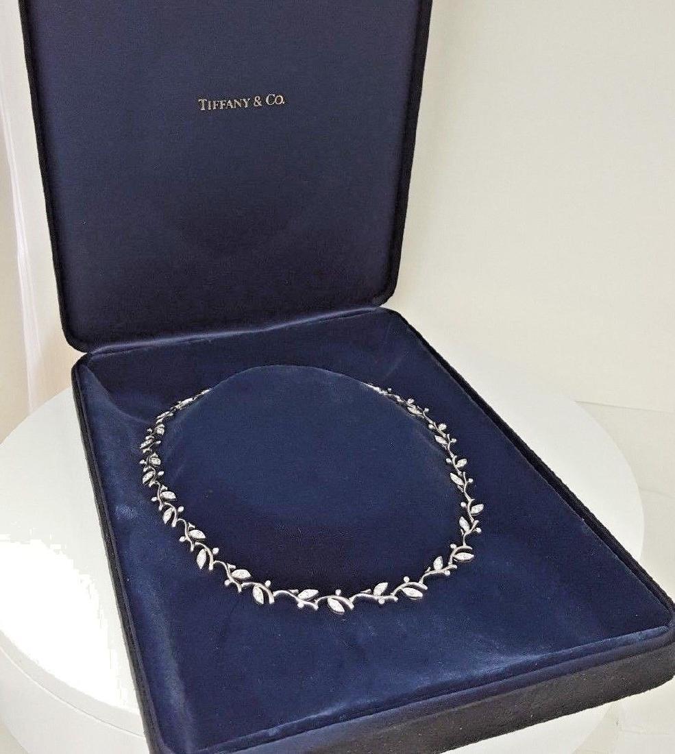 Tiffany & Co Garland Platinum 2.25ct Diamond Necklace - 3