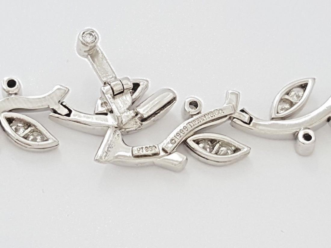 Tiffany & Co Garland Platinum 2.25ct Diamond Necklace - 4