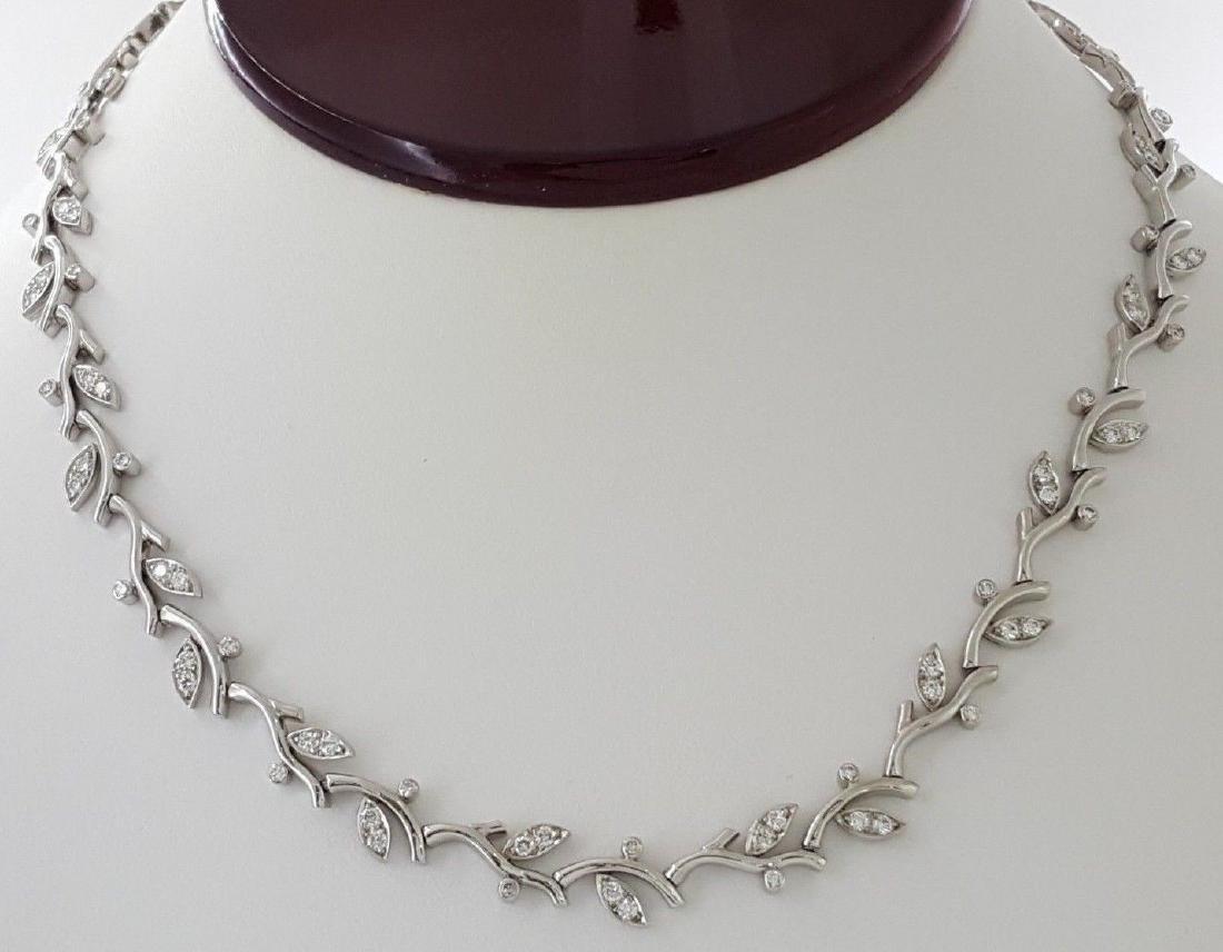 Tiffany & Co Garland Platinum 2.25ct Diamond Necklace - 5