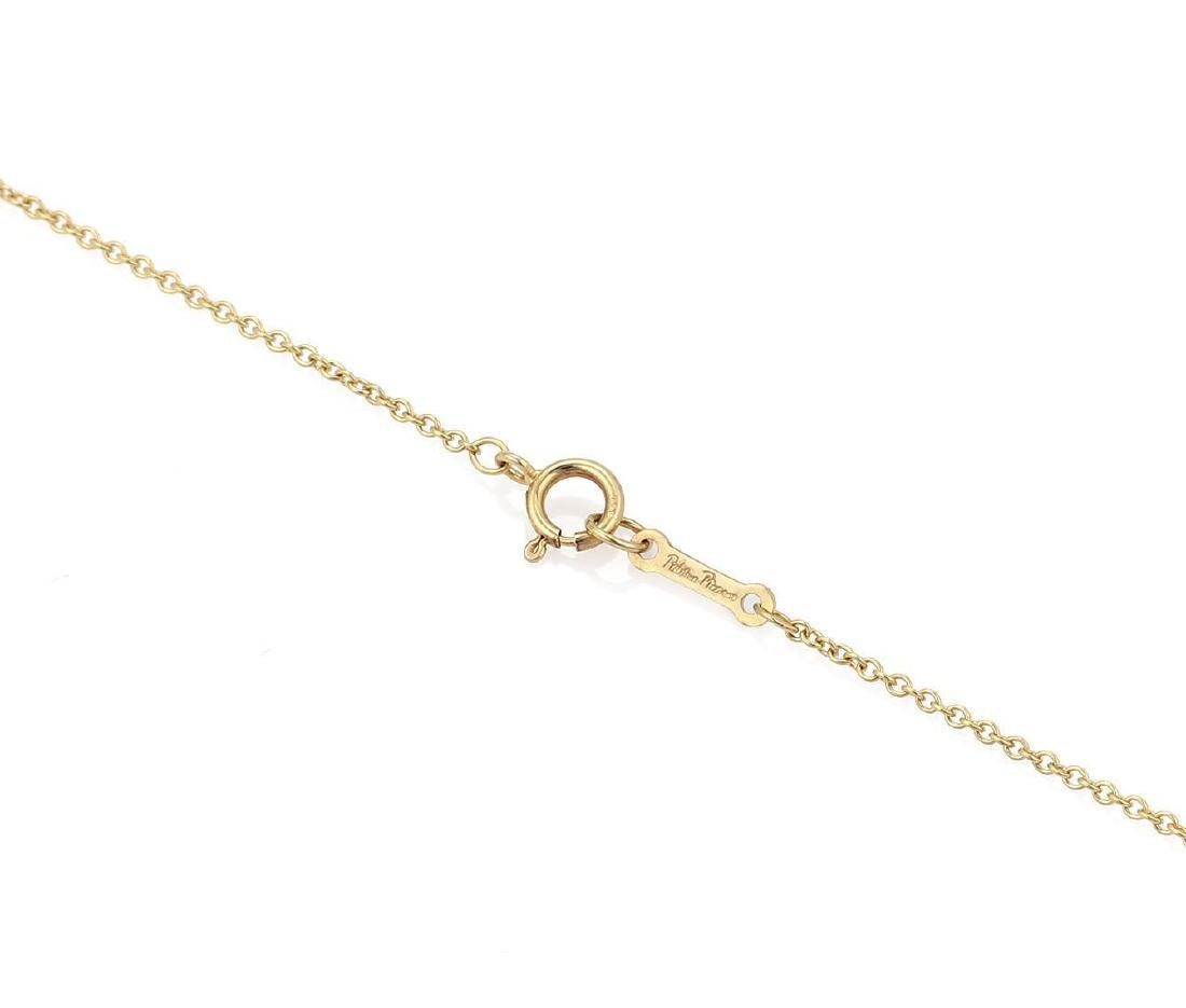 """Tiffany & Co. Picasso """"Aries"""" 18k Gold Pendant & Chain - 4"""