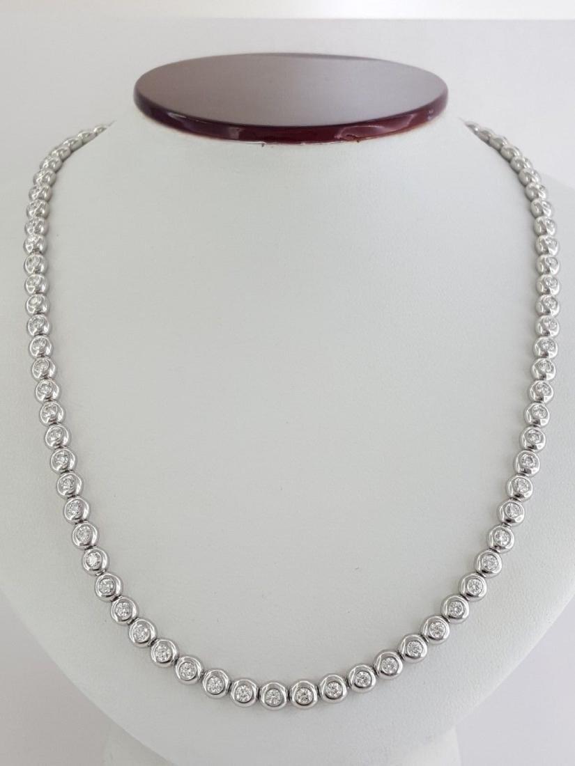 Tiffany & Co Platinum 4.29 ct Diamond Set Line Necklace