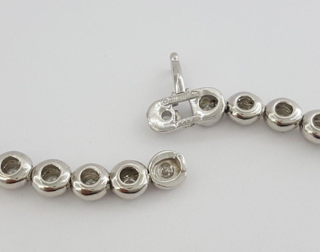 Tiffany & Co Platinum 4.29 ct Diamond Set Line Necklace - 2