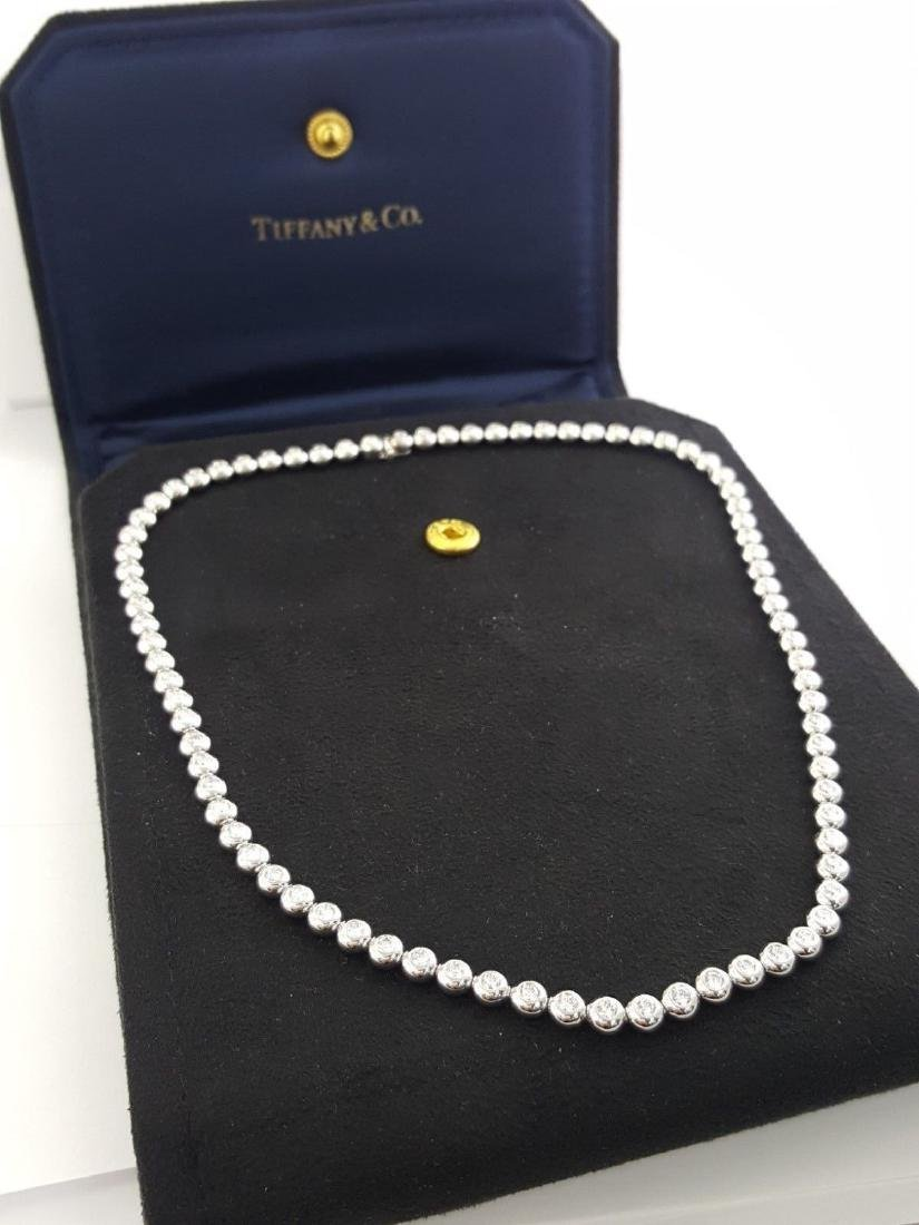 Tiffany & Co Platinum 4.29 ct Diamond Set Line Necklace - 5