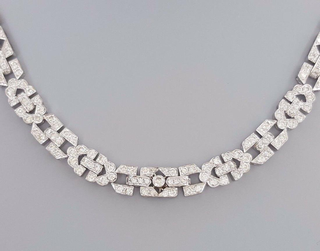 Platinum 12.25ct Brilliant Diamond Prong Set Necklace - 6